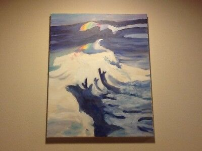 Original The Wave Oil Painting
