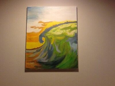 Original Oil Painting The Wave