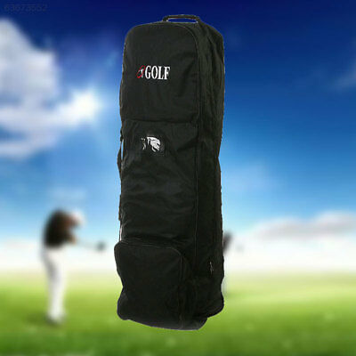 6936 Flight Travel Golf Bag Carrying Coverall Cases Cover Carrier with Wheels