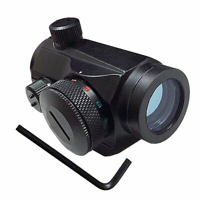 Red Green Micro Dot Sight Tactical Rifle Mount 20mm Rail 5 Brightness level **