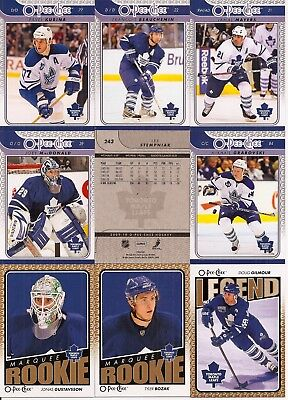 2009-10 OPC O-Pee-Chee Toronto Maple Leafs Complete Team Set (42)