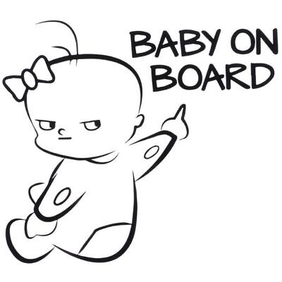 Baby on Board Safety Warning Sign Reflective PET Car Sticker Decal Decor Fine