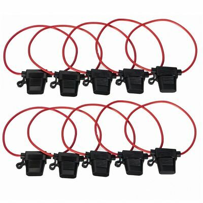 Inline Blade Fuse Holder - 40 AMP Heavy Duty 16AWG Wire Inc Free 40 AMP Fuse K~