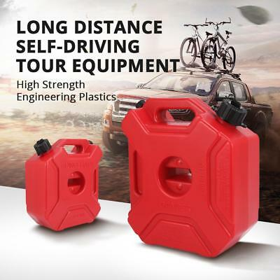 Red Jerry Can 3L/5L Gas Fuel Petrol Tank/Mount Clamp for ATV Bike Motorcycle Kit