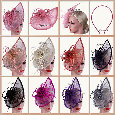 Hair Headbands Clip Hats Fascinator Wedding Evening Ladies Day Race Royal Ascot