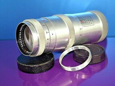 lens 135 mm  1 : 4   Carl Zeiss Jena Triotar  Red T  Mount: M39 + adapter M42