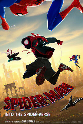 Spider-Man Into The Spider-Verse Movie Poster Original 2-Sided One Sheet