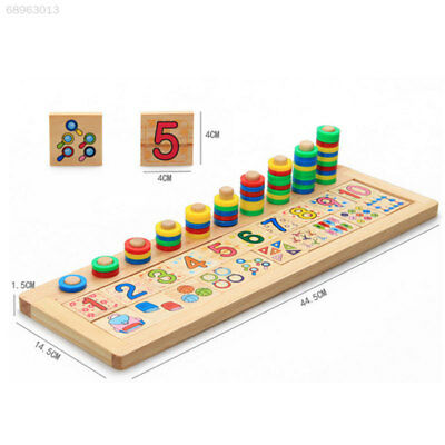 Colorful Wooden Montessori Math Board Shape Sorter Preschool Intellectual Toys