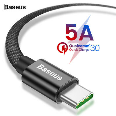 Baseus 5A Type C USB-C Super-fast Charging Cable for Huawei Samsung Galaxy S8 S9