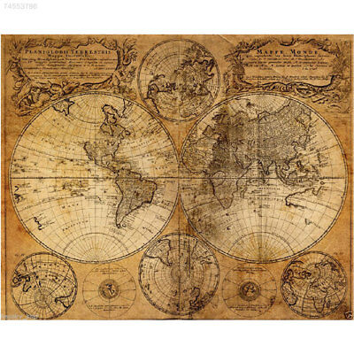 Vintage Style Nautical Nevigation Map Cloth Canvas Poster Oil Painting Decor