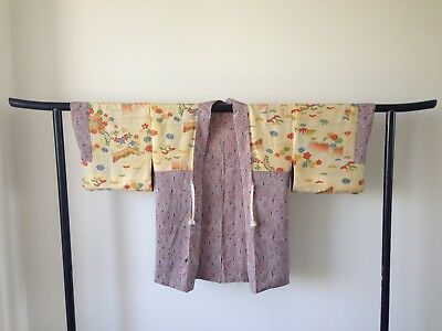 Silk Haori Jacket Kimono Vintage Authentic Japanese One of a Kind Jacket Antique