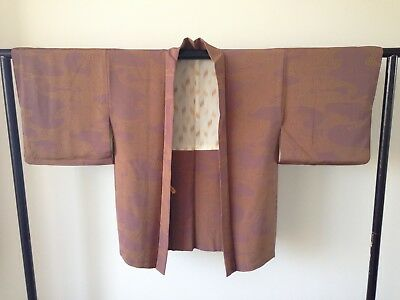 Women's Japanese Vintage Silk Haori Jacket Kimono Style Hand Made One of a Kind