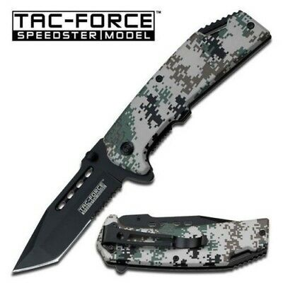TAC-FORCE Military Digital Camo Tanto Spring Assisted Open Tactical