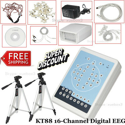 CE KT88-1016 Digital 16-Channel EEG Machine and Mapping System+Tripod,New CONTEC