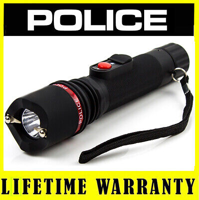 POLICE Stun Gun 306 160 BV Rechargeable With LED Flashlight