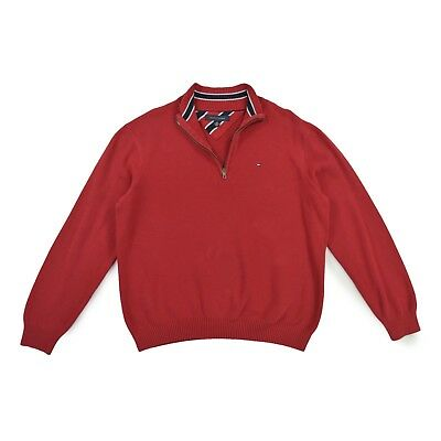 promo code caade f1a50 TOMMY HILFIGER HERREN Pullover M 50 rot Troyer Sweat Pulli Men Jumper TOP