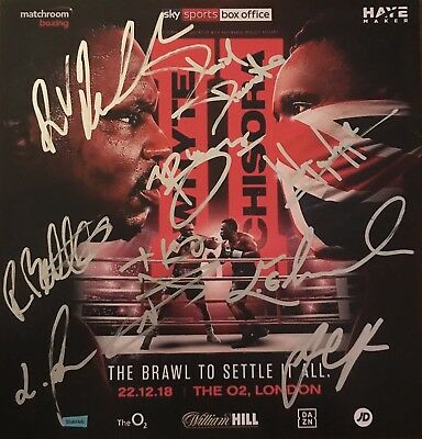Multi Signed Fight Card Chiisora Whyte