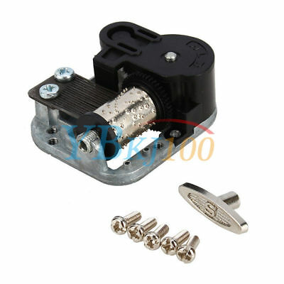 Wind Up Musical Movements Parts With DIY Screws Winder Edelweiss Music Box