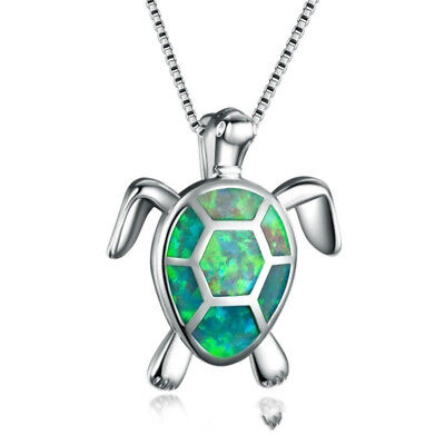 Silver Plated Sea Turtle Totem Animal Necklace Gift Women Birthday Gift N7