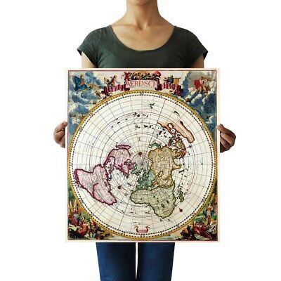 FLAT EARTH 1700 Antique Vintage Map Mural inch Poster 36x54 ... on flat map of united states, printable flat map, flat map pennsylvania, world map, sua flat map, america flat map, chantry flats map, flat globe, flat map of countries, flat map of asia, future of the united states map, usa map, a flat map, flat global map, 48 united states map, red state blue state map, flat europe map, empty states map, flat continent map, globe flattened to map,
