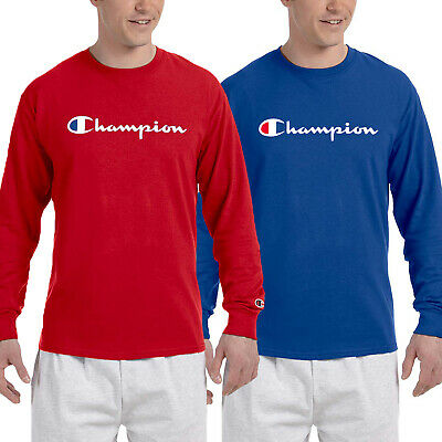 976a37a5 CHAMPION MENS CLASSIC Script Logo Long Sleeve T Shirt---Brand New ...