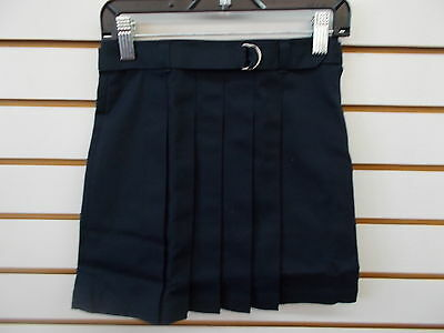 Girls Tommy Hilfiger Navy Uniform Pleated Front Skirt Size 6