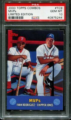 2000 Topps Combos Limited Edition #tc9 Chipper Jones Psa 10 B2584624-244