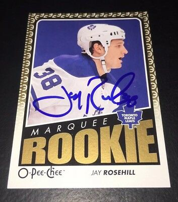 Jay Rosehill - Signed 2009/10 O-Pee-Chee #778 Marquee Rookie Card! Autographed
