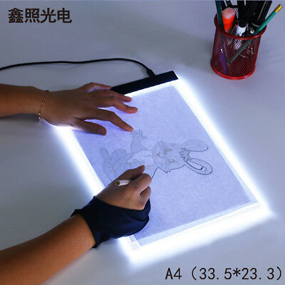 (USA) LED Tracing Light Box Board Tattoo A4 Drawing Pad Table Stencil Display