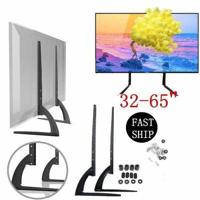 """Heavy Duty TV Stand Base Table Top Pedestal Mount 32-65"""" Screen for Samsung LG"""