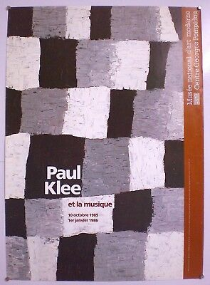 Paul Klee – Centre Georges Pompidou- Affiche Originale D'Exposition - 1985
