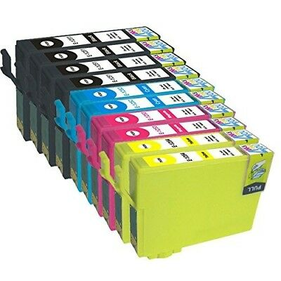 10 NON-OEM INK CARTRIDGE T125 #125 FOR EPSON WorkForce 520 Stylus NX125 NX127