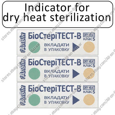 NEW! Indicators for dry heat sterilization BioSTERITEST-V-180/60