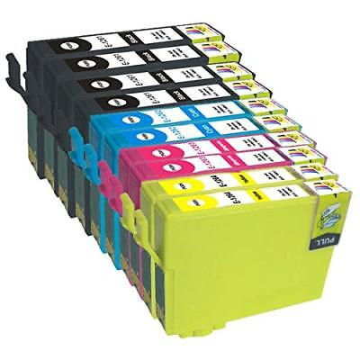 10 NON-OEM INK CARTRIDGE T126 #126 FOR EPSON Workforce 840 845 WF-3520 WF-3540
