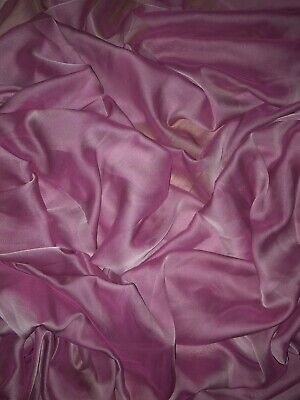 "3 Mtr Pink Cationic Two Tone Sheer Bridal,dress Chiffon Fabric ..58"" Wide"