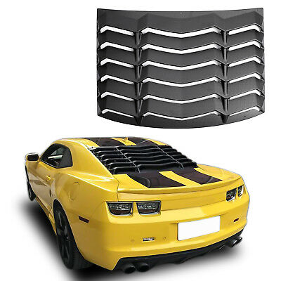 For 2010-2015 2014 Chevy Camaro Rear Window Louver Sun Shade Cover Matte Black