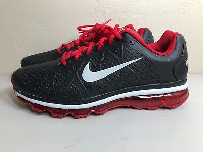 grossiste 3f47b 881ab NIKE AIR MAX 2011 Leather Size 13 Black, Sport Red, Model 456325-016