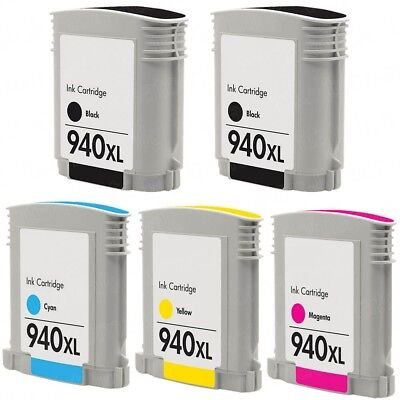 5 Non-Oem Ink Cartridge 940Xl For Hp Officejet Pro 8000 8500 8500A Plus