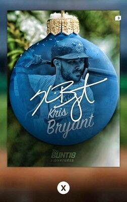 Kris Bryant Ornaments Signature Hit-Christmas Holiday-12 Days Of Topps Bunt 18