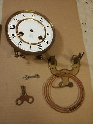 Junghans R/a Regulator Wall Clock Enamel Dial Movement Mounting Plate Key
