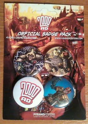 2000 AD Official Badge Pack: Brand New & Mint