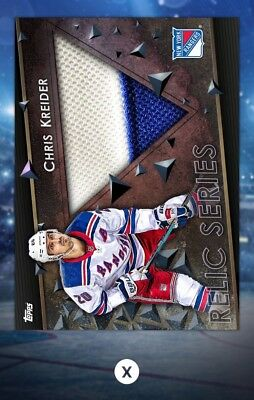Chris Kreider-Relic Series Marathon Base Away-Topps Skate 19 Digital