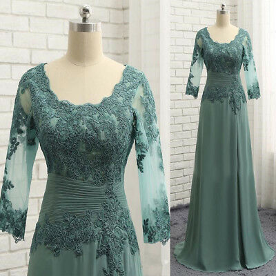 d04aa523df Green Half Sleeve Appliques Mother Of The Bride Dresses Chiffon Prom Party  Dress