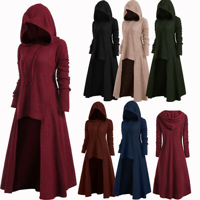 Hooded Pullover Coat High Hoodies Sweater Oversized Knitwear Low Ribbed Women'S