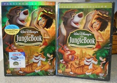 The Jungle Book (DVD 2007 2-Disc  40th Anniversary) NEW W BUENA STAMP SLIPCOVER