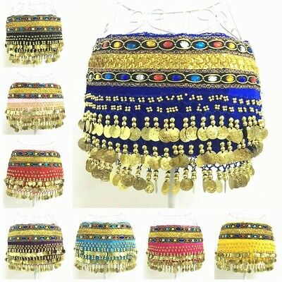 Pants, Hip Scarf Q1585# Belly Dance Tribal Flared Cropped Pants 2pcs 10 colors