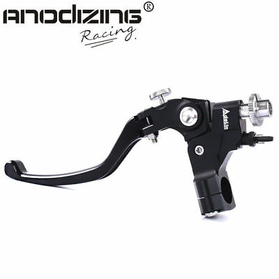 "ANODIZING 7/8"" Motorcycle Front Adelin Adjustable Clamp Clutch Master Lever"