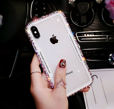 Shockproof Bling Crystal Rhinestone Diamond Glitter Case For iPhone Xs Max Xr X