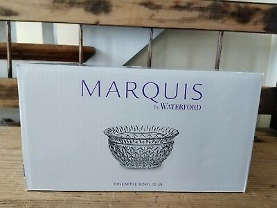 """*NEW* Marquis by Waterford Wedge Cut 10"""" Pineapple Crystal Bowl - RARE"""
