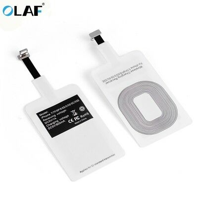 Universal Qi Wireless Charger Receiver For iPhone 7 6S 6 Android Micro USB TypeC